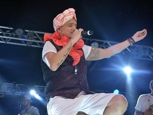 Netinho se emocionou durante a apresentação na Ondina (Foto: Júnior Improta/Ag Haack)