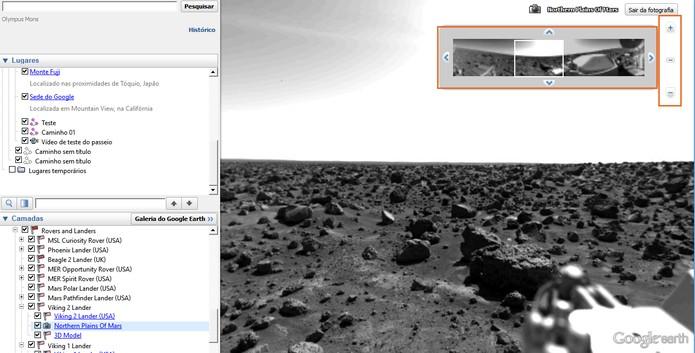 Navegue pela superfície de Marte (Foto: Reprodução/Barbara Mannara)