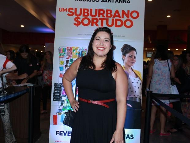 Mariana Xavier em pré-estreia de filme na Zona Oeste do Rio (Foto: Marcello Sá Barretto/ Ag. News)