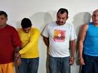Polícia apresenta suspeitos de estupros (Iryá Rodrigues/G1)