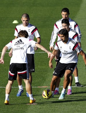 Pepe, Treino do Real Madrid (Foto: EFE)