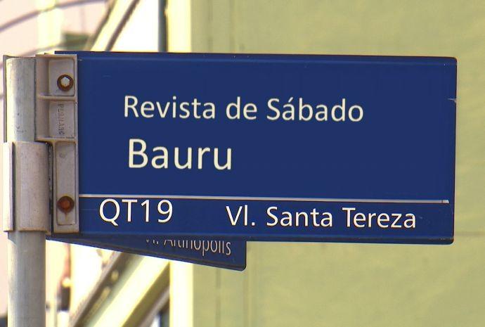 Bauru é também a terra do rei dos campos de futebol brasileiro, o Pelé (Foto: Reprodução / TV TEM)
