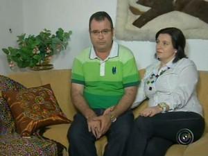Amilton de Oliveira e Cristiane da Cunha (Foto: Reprodução/TV TEM)