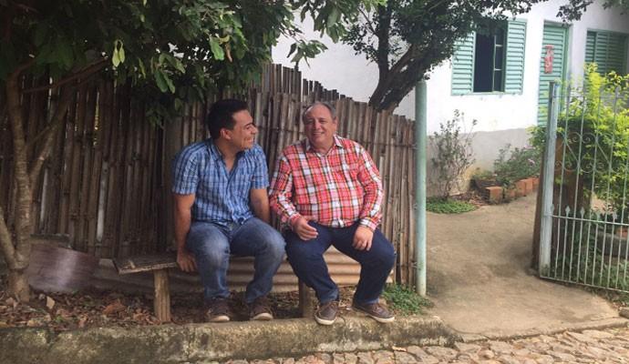 Nerso da Capitinga e Marcelo Honorato visitaram a Capetinga (Foto: Divulgação Tô Indo)