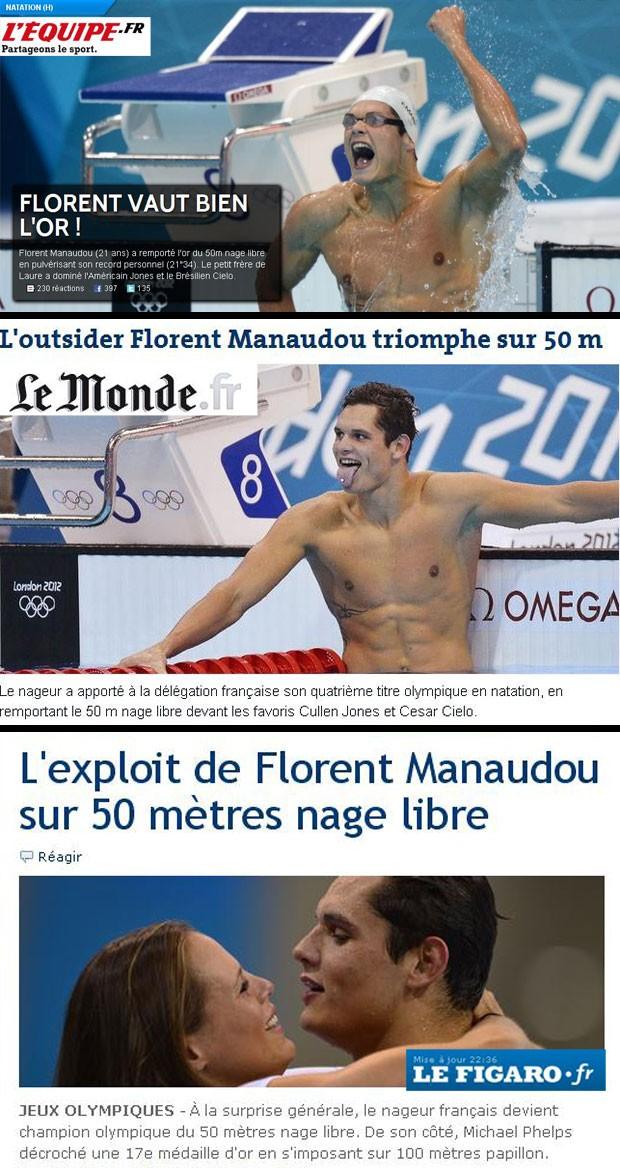 Florent Manaudou, natação, Sites (Foto: Reprodução)