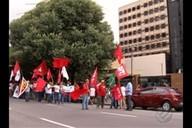 Movimentos sociais fazem vigília pró-lula em frente ao prédio da Justiça Federal em Belém