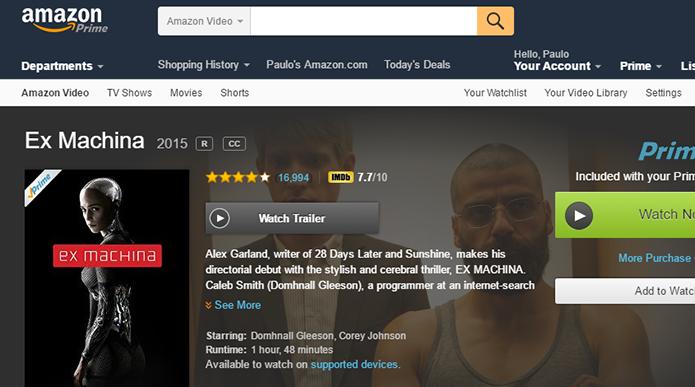 Prime Video tem vários filmes mais novos do que Netflix (Foto: Reprodução/Paulo Alves)