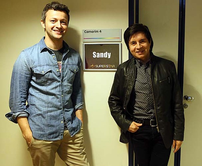 Xororó e Lucas Lima prestigiam Sandy no SuperStar (Foto: Isabella Pinheiro/Gshow)