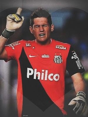 Rafael Cabral goleiro Napoli Santos (Foto: Reprodução / Instagram)