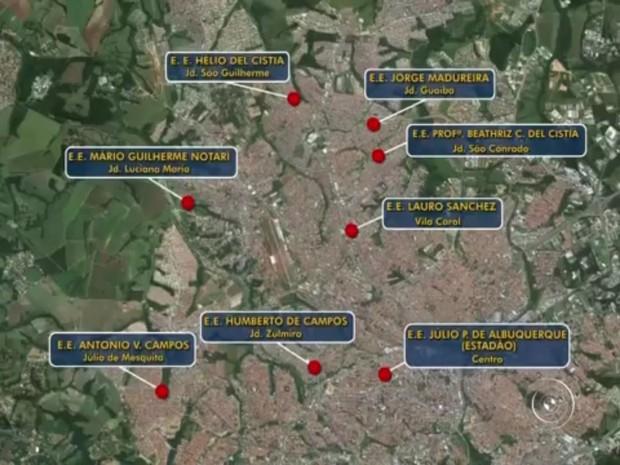 Oito escolas estão ocupadas por alunos em Sorocaba (Foto: Reprodução/TV TEM)