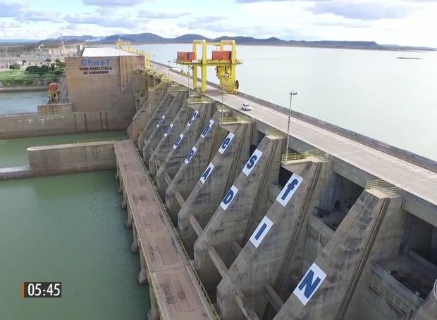 A CHESF anuciou a redução de 800 para 700 m³ da vazão de água (Foto: Reprodução/TV Grande Rio)