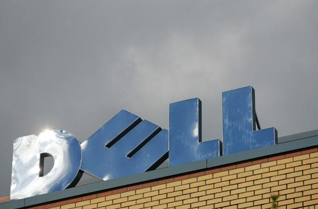 Letreiro da Dell sobre escritório da empresa em Lagen, Alemanha (Foto: GettyImages)