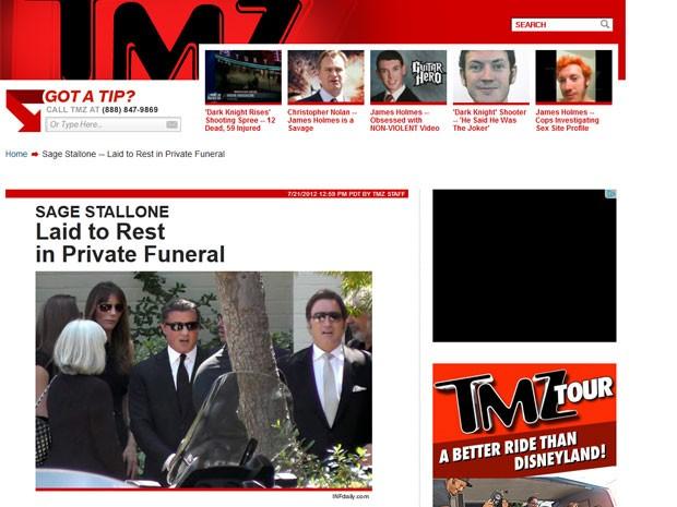Funeral de Sage foi realizado neste sábado na California  (Foto: Reprodução)