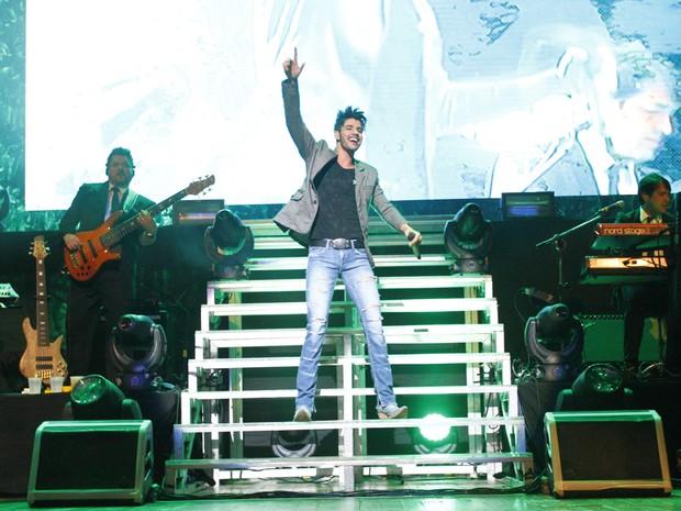 Gusttavo Lima em show em São Paulo (Foto: Paduardo/ Ag. News)