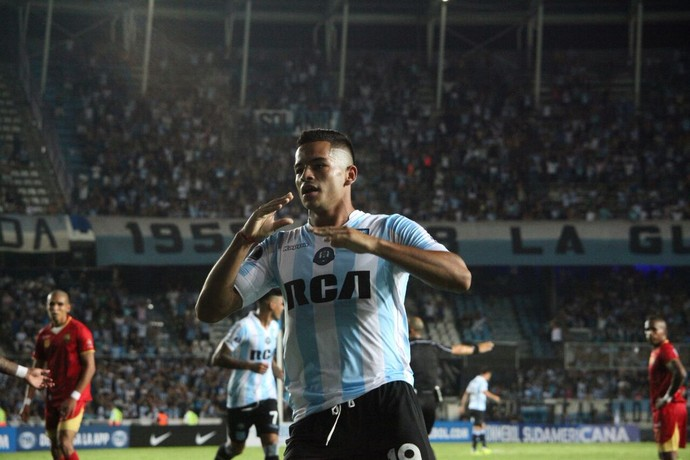 gol de mansilla, racing x rionegro águilas (Foto: Reprodução Twitter)