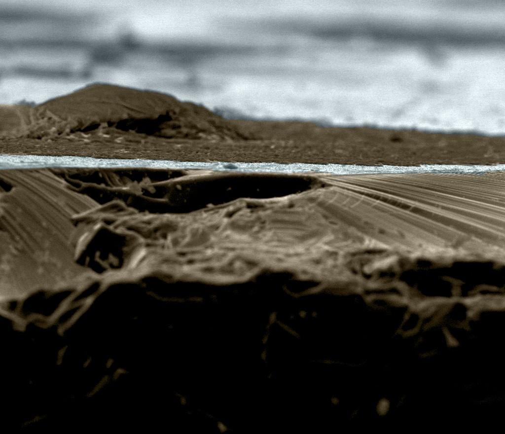 Defreezing Mountain - Material óxido de zinco dopado com samário (Foto: Ricardo Tranquilin/ Divulgação)