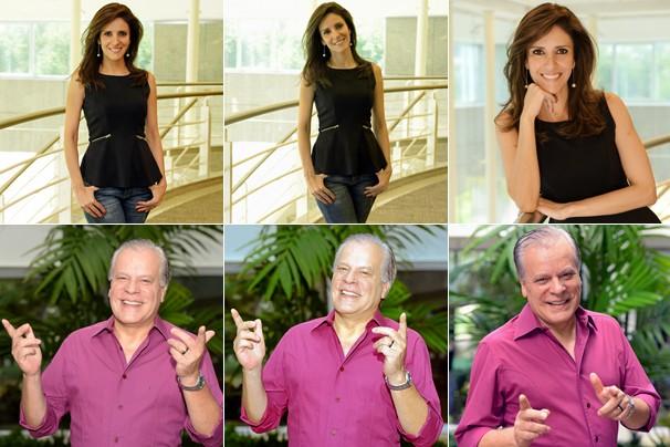 Chico Pinheiro e Monalisa Perrone, que neste ano estreia na transmissão, narram os dois dias de desfiles do Grupo Especial de SP para todo o Brasil, exceto o para o RJ (Foto: Zé Paulo Cardeal/Globo)