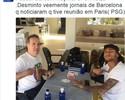 Agente nega reunião com dirigentes do PSG pela transferência de Neymar