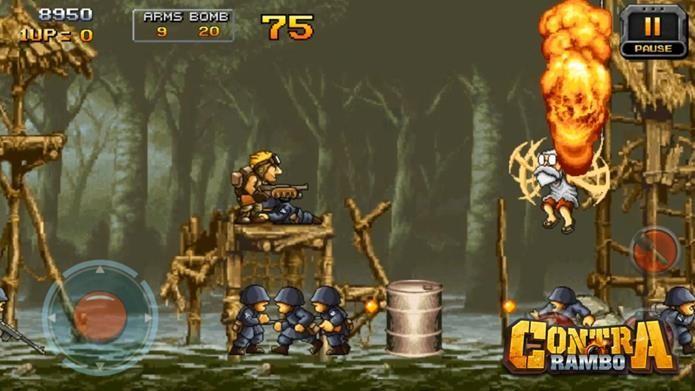 Contra Rambo é um Metal Slug completamente gratuito para Android (Foto: Divulgação / Rabo Store)