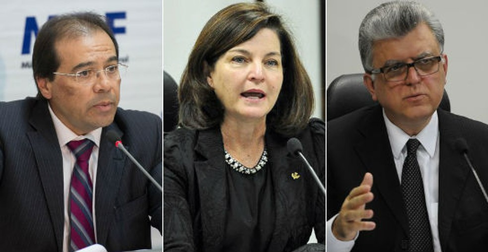 Lista tríplice: Nicolao Dino, Raquel Dodge e Mario Luiz Bonsaglia (Foto: Marcelo Camargo/Agência Brasil; Antonio Cruz/Agência Brasil; Antonio Cruz/Agência Brasil)