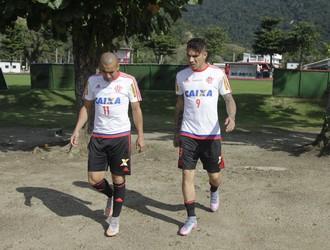Emerson e Guerrero Flamengo (Foto: Gilvan de Souza / Flamengo)
