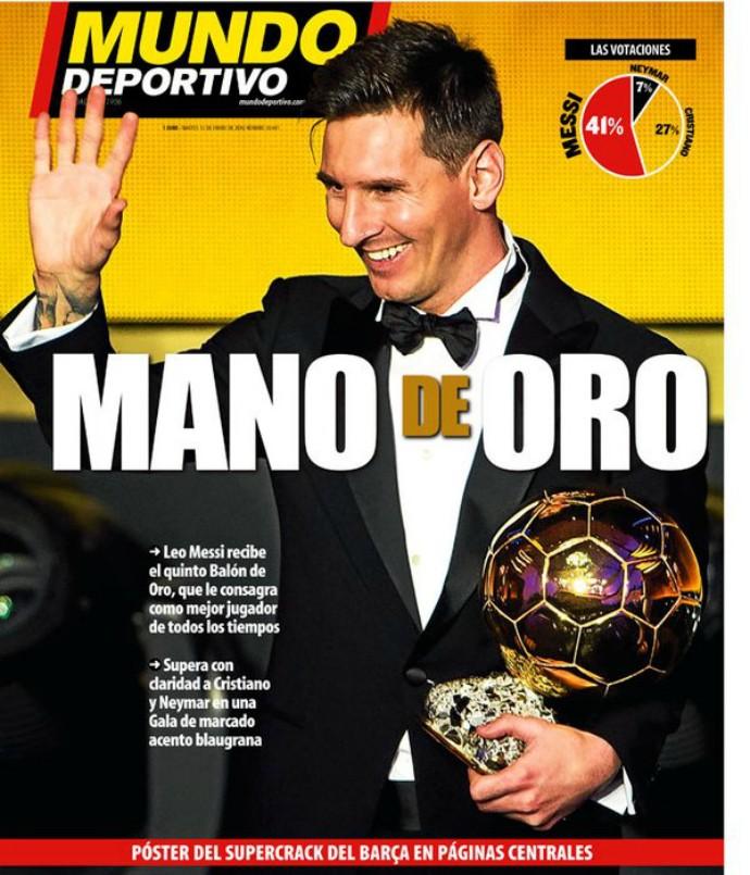 Capa Mundo Deportivo Messi