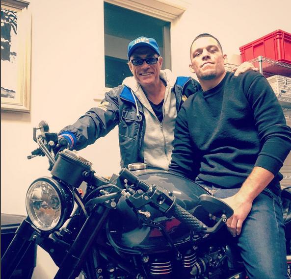 BLOG: Van Damme tieta Nate Diaz e publica foto em rede social
