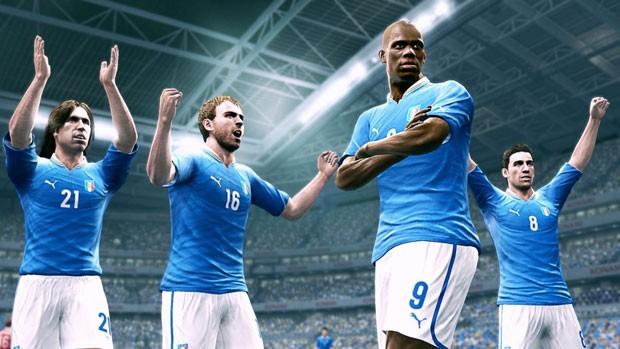 Seleção italiana poderá ser usada na demonstração de 'Pro Evolution Soccer 2013' (Foto: Divulgação)