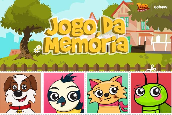 Jogo da memória do Tito (Foto: Gshow)