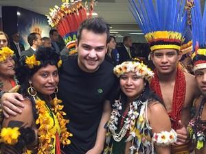 Felipe Fraga é padrinho de Jogos Mundiais dos Povos Indígenas (Foto: Felipe Fraga/Arquivo Pessoa)