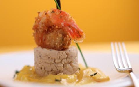 Camarão jaca jaqueira, do chef Cesar Santos