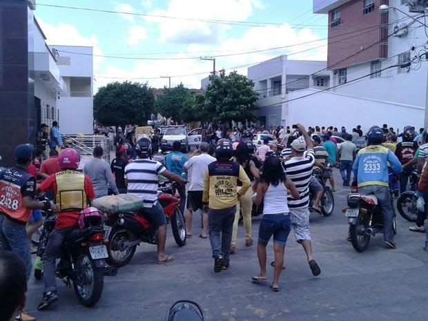 Tentativa de assalto aconteceu no início da tarde desta sexta (10) (Foto: Divulgação/Polícia Militar do RN)
