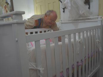 Pai diz que se emociona ao ver filha dormindo como um anjo (Foto: Flávio Antunes/G1)