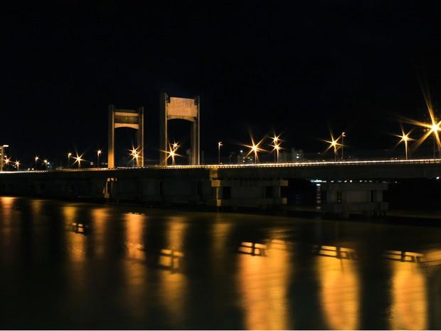 Ponte presidente Dutra à noite (Foto: Patrícia Telles/Arquivo pessoal)