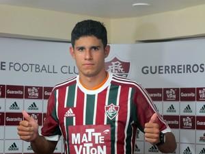 Victor Oliveira no Fluminense (Foto: Fred Huber)