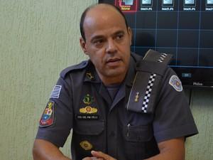 Tenente-coronel da Polícia Militar de Piracicaba Marco Antonio Felix  (Foto: Claudia Assencio/G1)