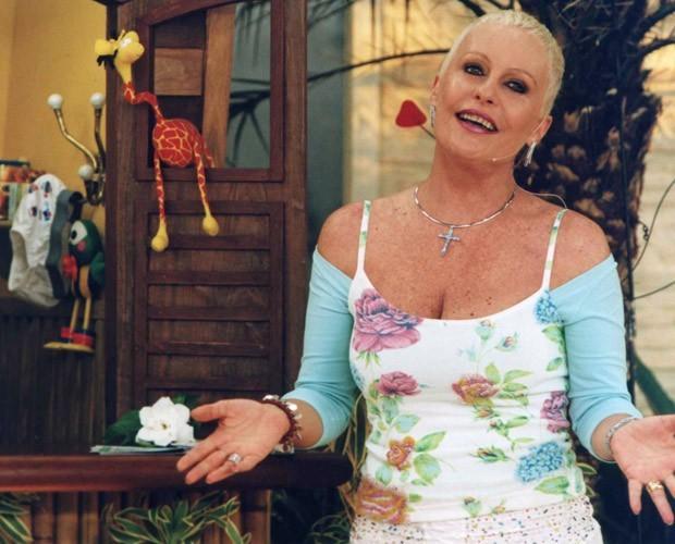Ana Maria na fase de luta contra o câncer (Foto: Divulgação / TV Globo)
