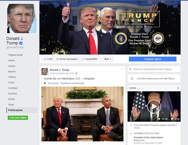 Rede social foi acusada de permitir propagação de notícias falsas postadas principalmente por correligionários de Trump (Foto: Reprodução/Facebook)