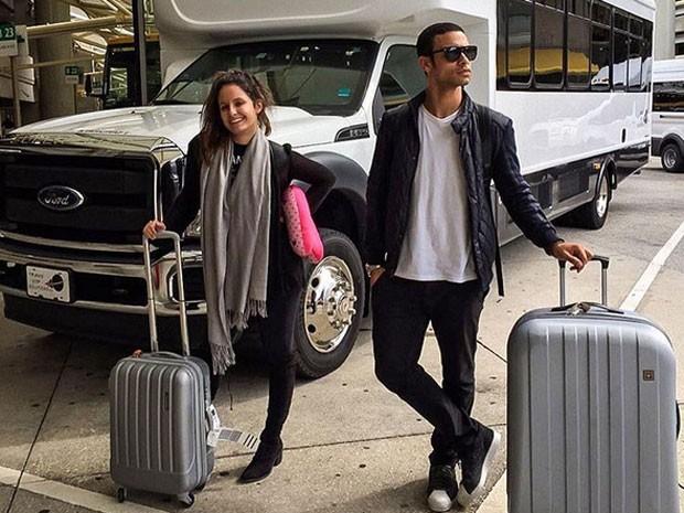 Amanda de Godoi e Sergio Malheiros em Orlando, nos Estados Unidos (Foto: Instagram/ Reprodução)