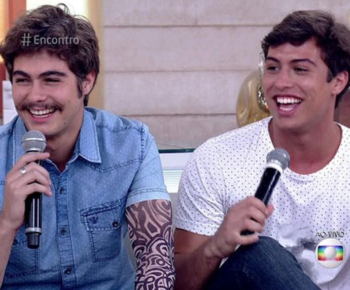Irmãos Vitti no palco do 'Encontro' (Foto: TV Globo)