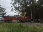 Caminhão não consegue fazer retorno e tranca Estrada do Mar por 1h no RS