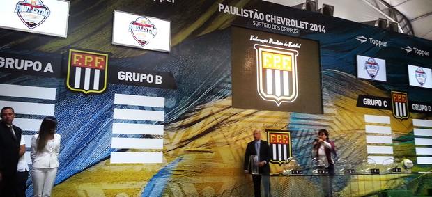 Sorteio Federação Paulista de Futebol - FPF (Foto: Rodrigo Faber)
