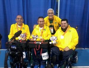 Na disputa do Parapan de 2015, Dirceu garantiu o ouro com seus companheiros (Foto: Reprodção/facebook)