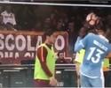 "Vídeo mostra Totti jogando bola em Wallace, e Felipe Anderson diz: ""Cag..."""