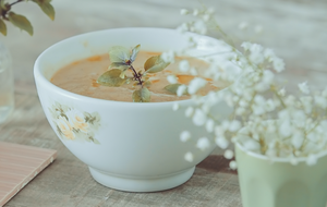 Receita de sopa de batata-doce com tomate