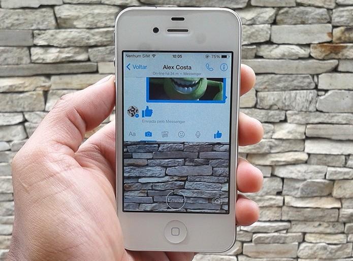 Como visualizar as animações das figurinhas do Facebook Messenger no iOS? (Foto: Marvin Costa/TechTudo)