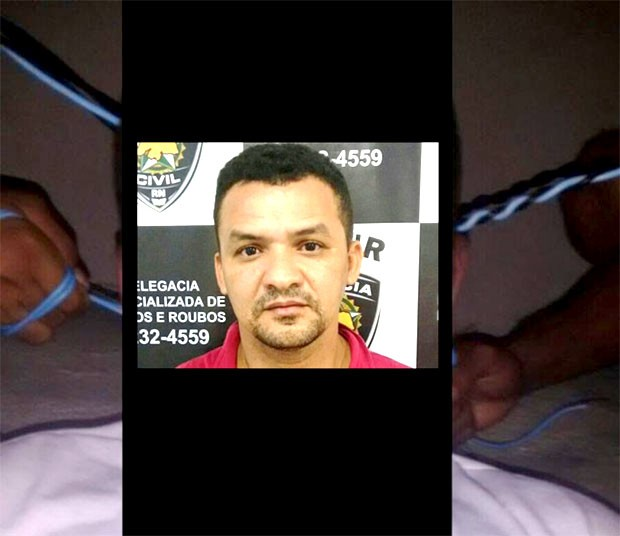 Foto que mostra o preso Joel do Mosquito sendo estrangulado dentro da Cadeia Pública de Natal foi feita e divulgada pelos próprios detentos (Foto: Divulgação/Polícia Civil)