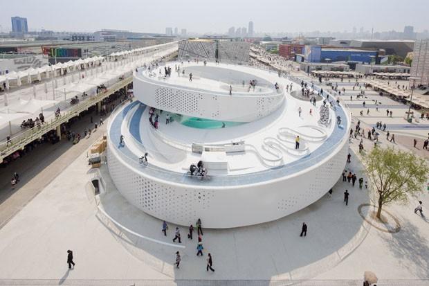 Pavilhão dinarquês na Expo Xangai 2010 (Foto: Iwan Baan )