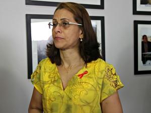 Silvana Lima, coordenadora estadual DST/Aids, aprensentou relatório nesta segunda-feira (30) (Foto: Suelen Gonçalves/G1 AM)