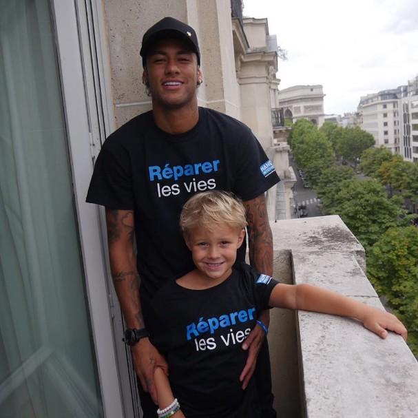 Neymar e Davi Lucca (Foto: Instagram/Reprodução)